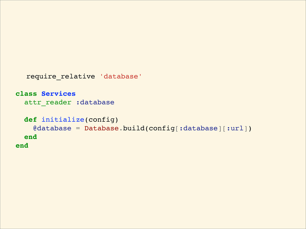 require_relative 'database' class Services attr...