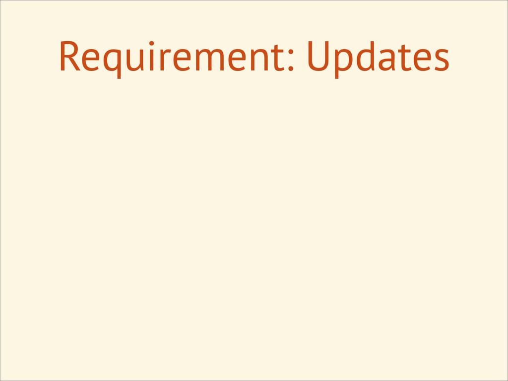 Requirement: Updates