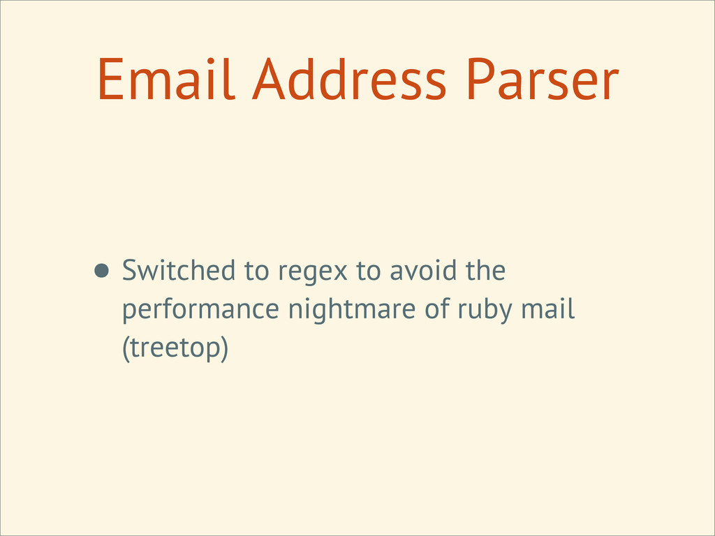 Email Address Parser • Switched to regex to avo...
