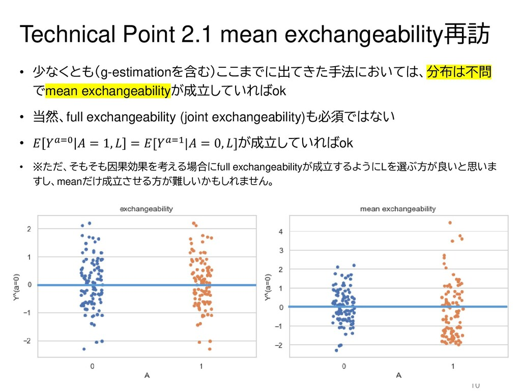 Technical Point 2.1 mean exchangeability再訪 • 少な...