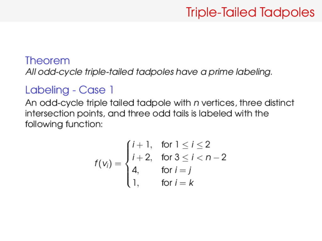 Triple-Tailed Tadpoles Theorem All odd-cycle tr...