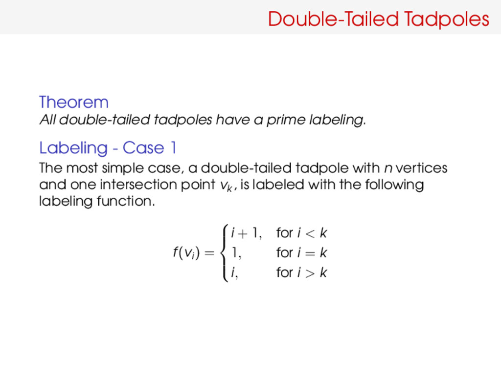 Double-Tailed Tadpoles Theorem All double-taile...