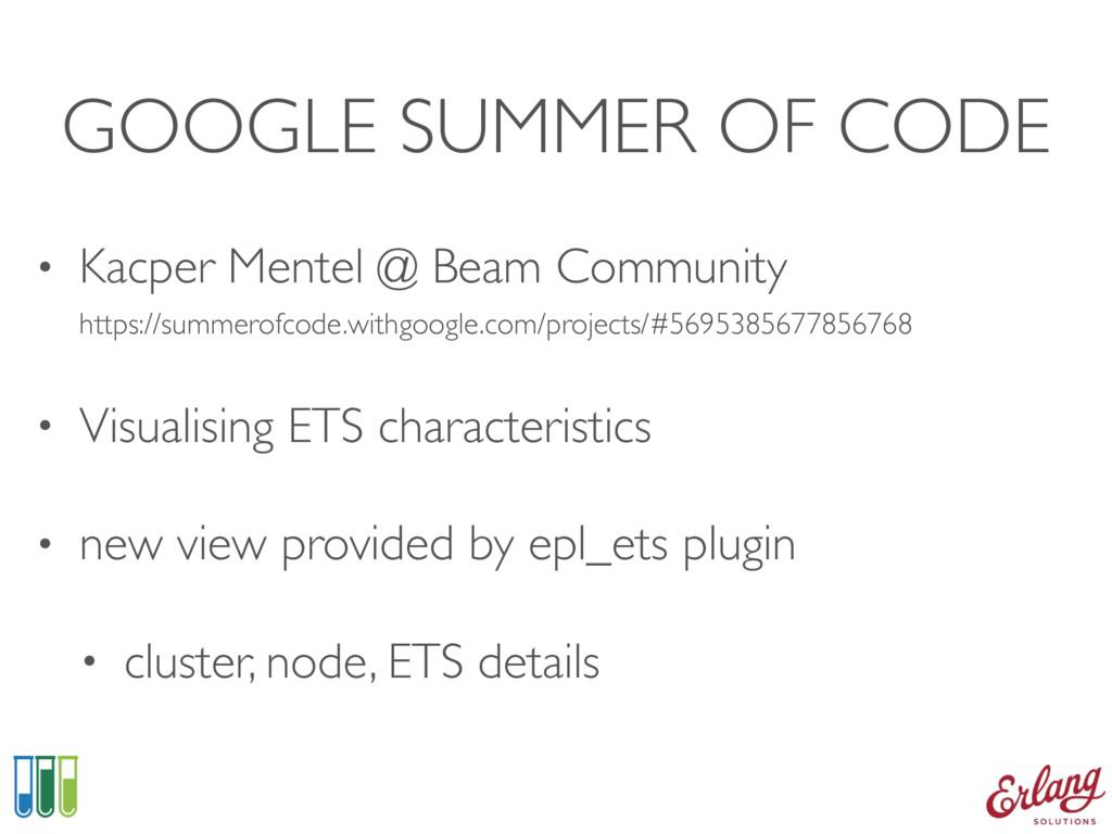 GOOGLE SUMMER OF CODE • Kacper Mentel @ Beam Co...