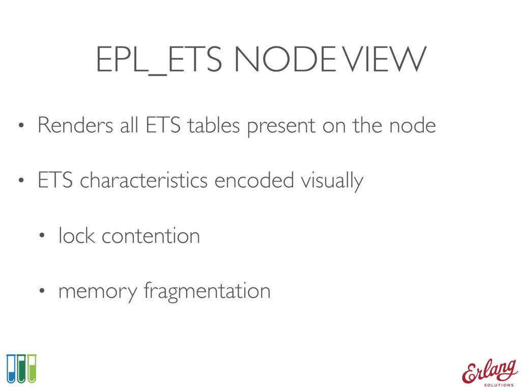 EPL_ETS NODE VIEW • Renders all ETS tables pres...