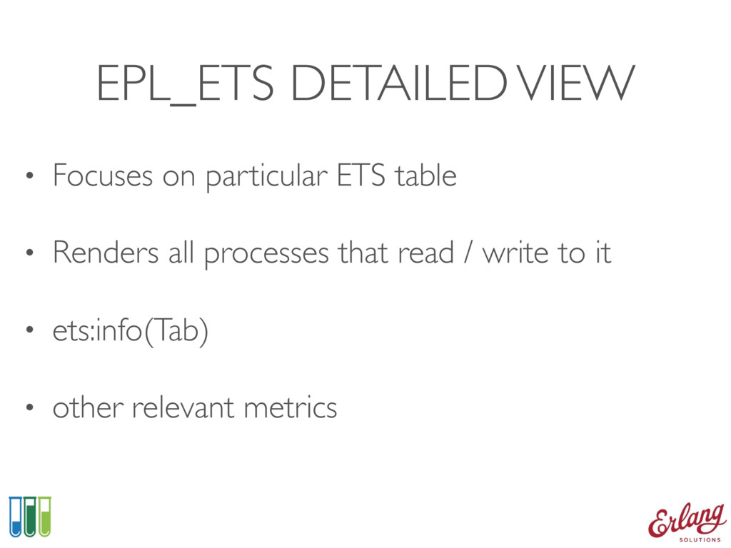 EPL_ETS DETAILED VIEW • Focuses on particular E...