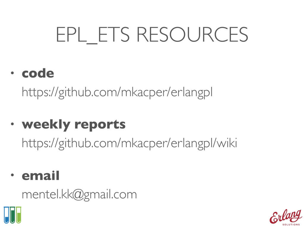 EPL_ETS RESOURCES • code https://github.com/mk...