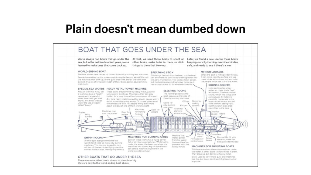 Plain doesn't mean dumbed down