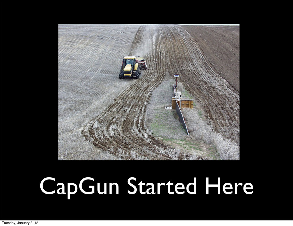 CapGun Started Here Tuesday, January 8, 13