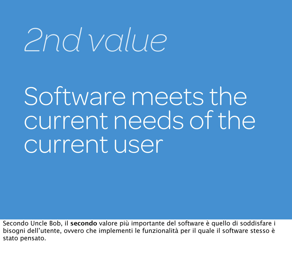 Software meets the current needs of the current...