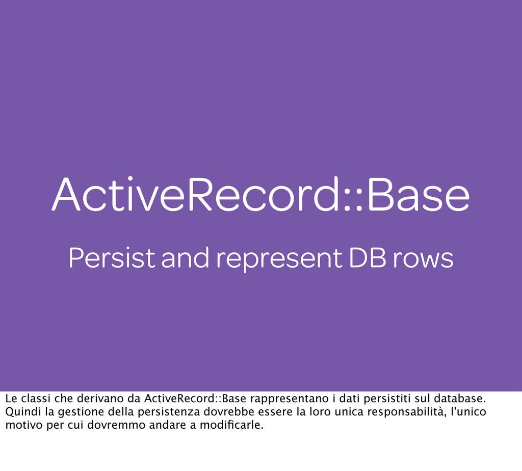 ActiveRecord::Base Persist and represent DB row...