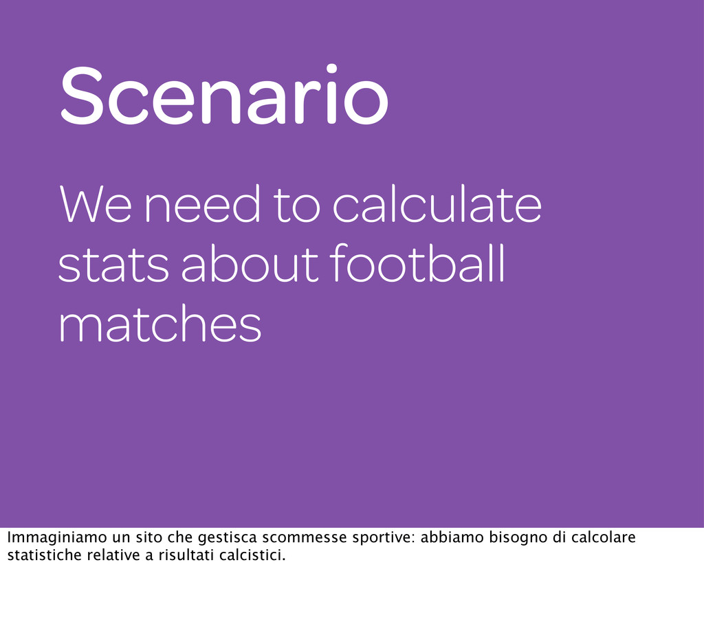 We need to calculate stats about football match...