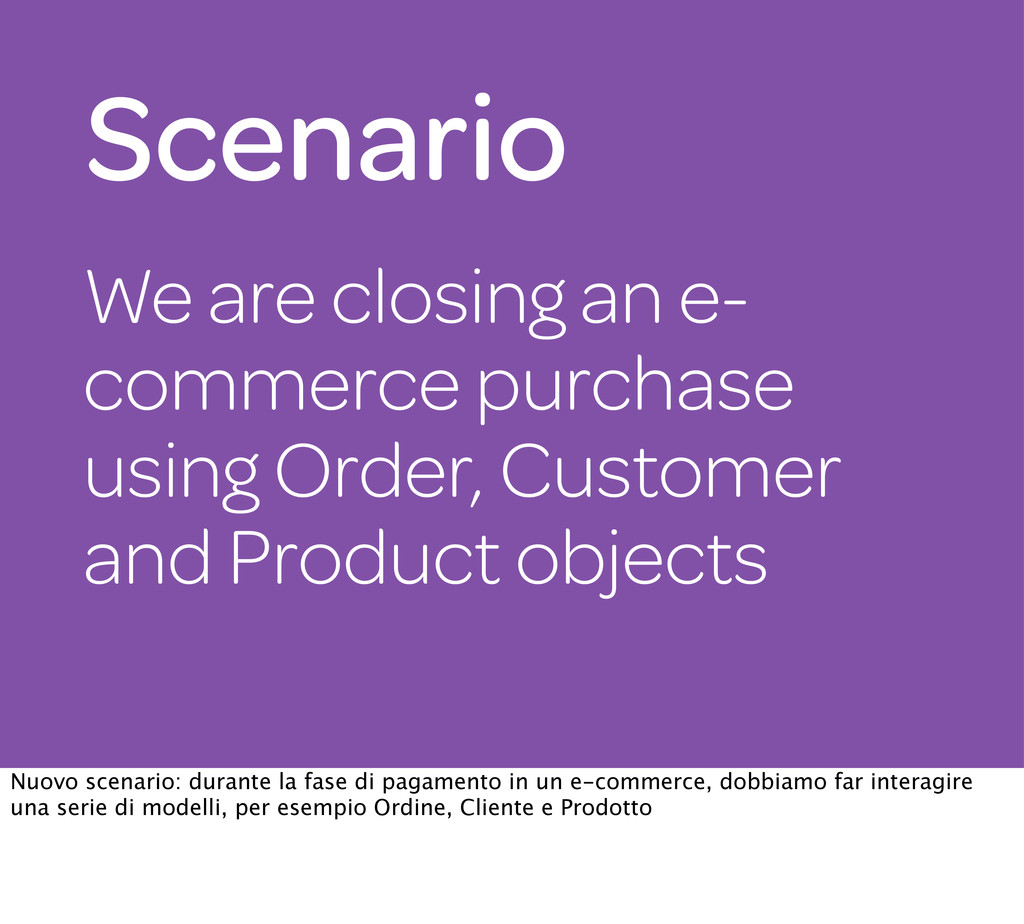 We are closing an e- commerce purchase using Or...