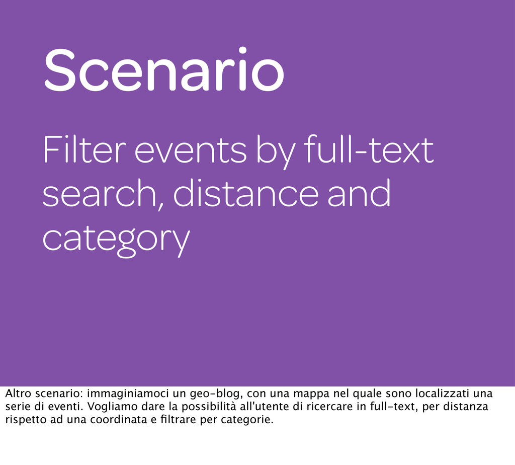 Filter events by full-text search, distance and...