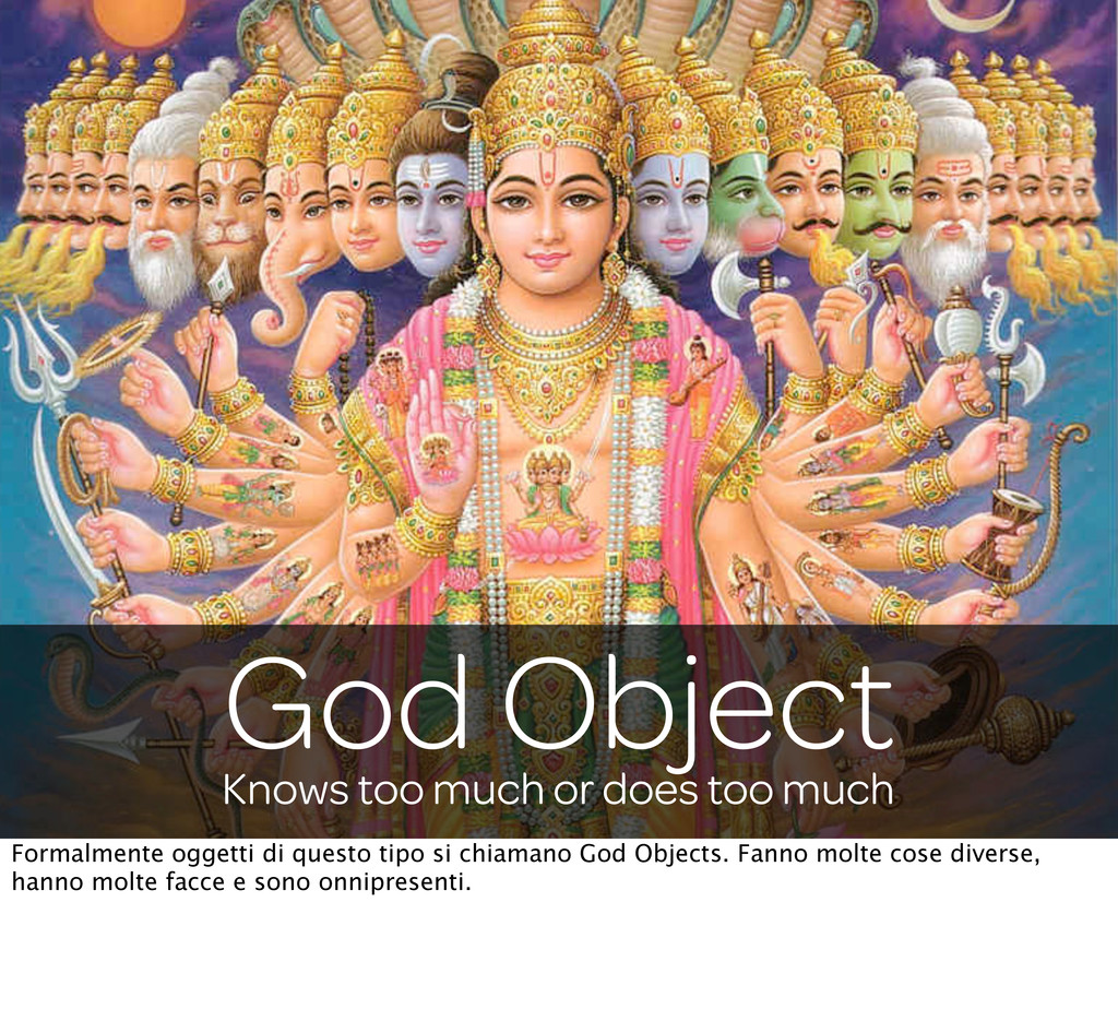 Knows too much or does too much God Object Form...