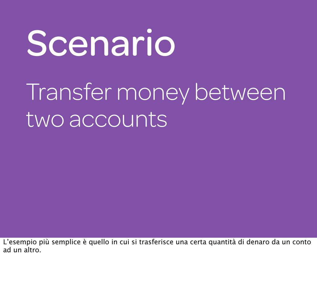 Transfer money between two accounts Scenario L'...