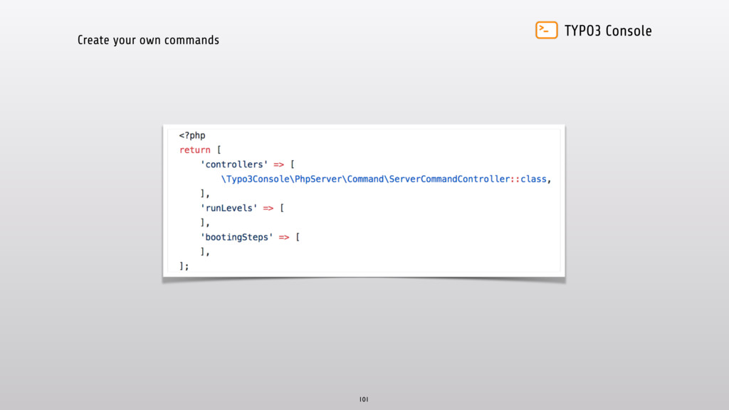 TYPO3 Console Create your own commands 101
