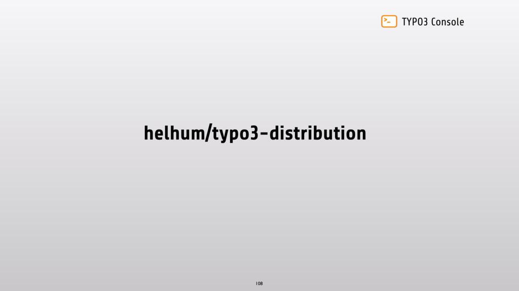 TYPO3 Console helhum/typo3-distribution 108