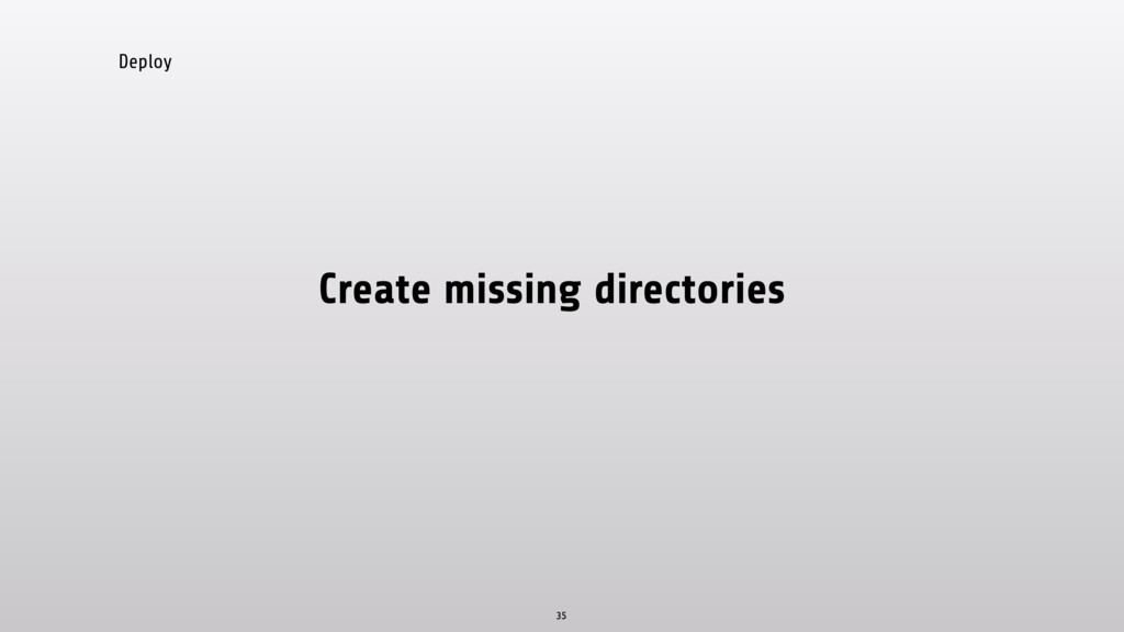 Deploy Create missing directories 35