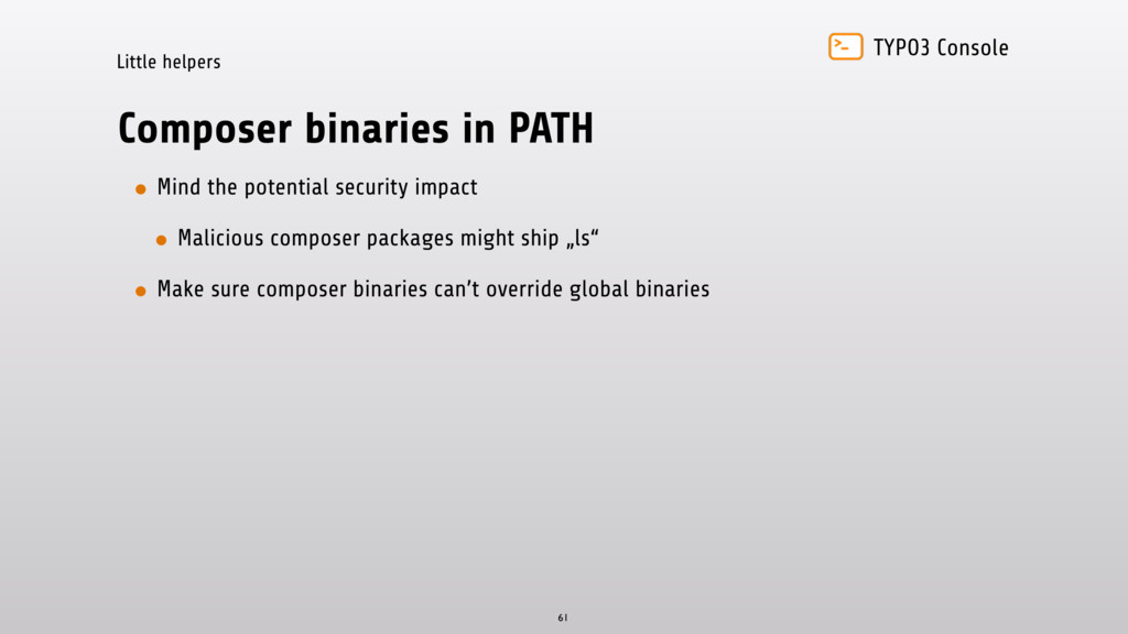 TYPO3 Console Little helpers Composer binaries ...