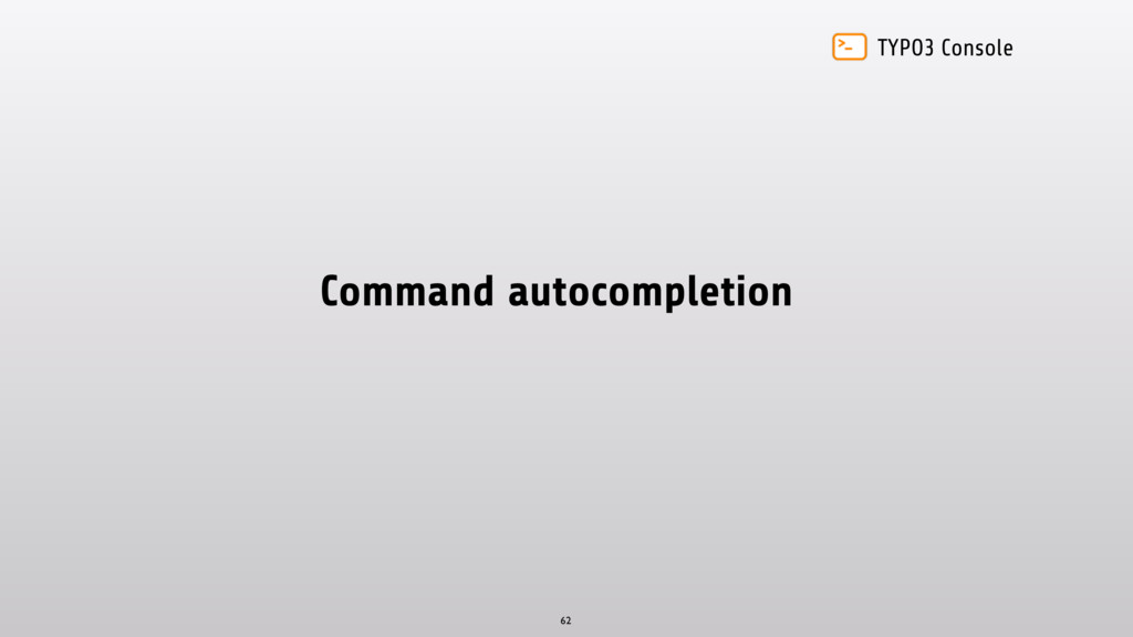 TYPO3 Console Command autocompletion 62