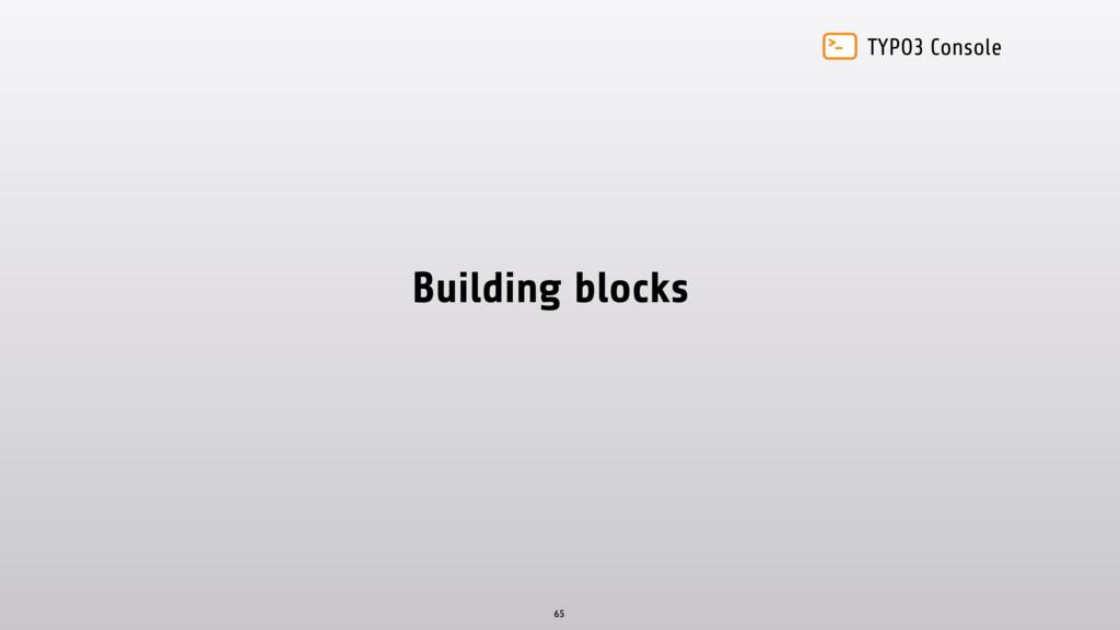 TYPO3 Console Building blocks 65