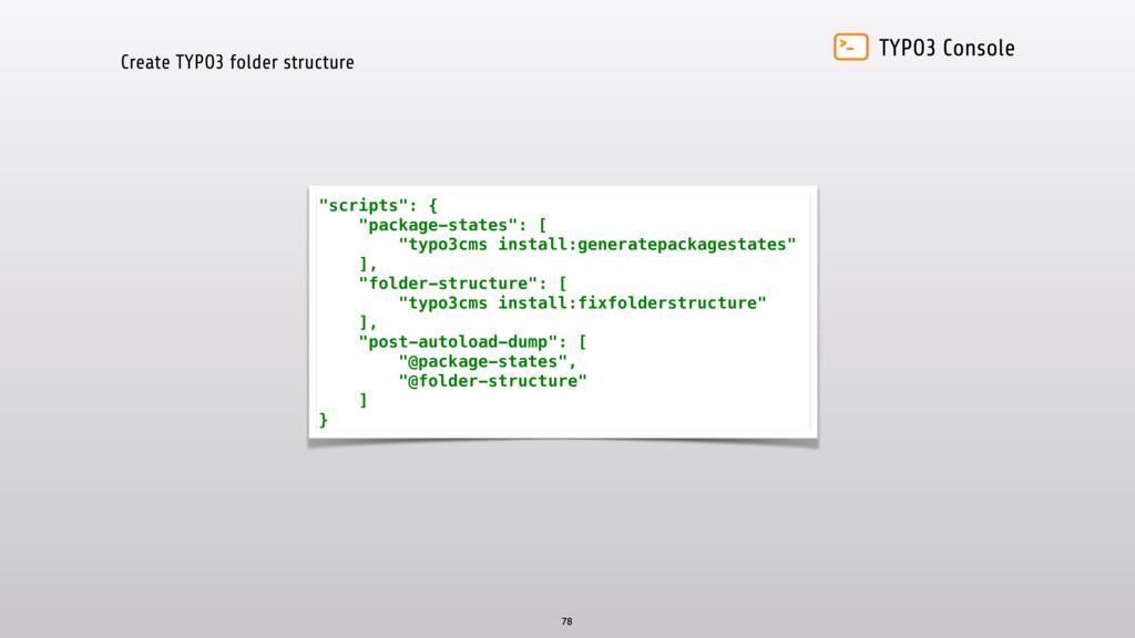 TYPO3 Console Create TYPO3 folder structure 78 ...