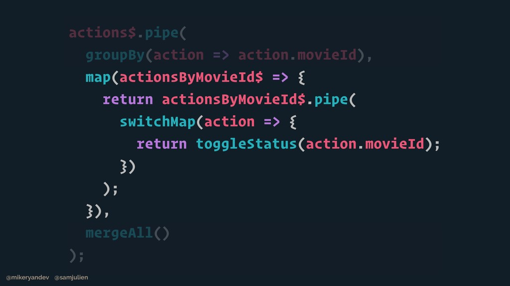 actions$.pipe( groupBy(action => action.movieId...