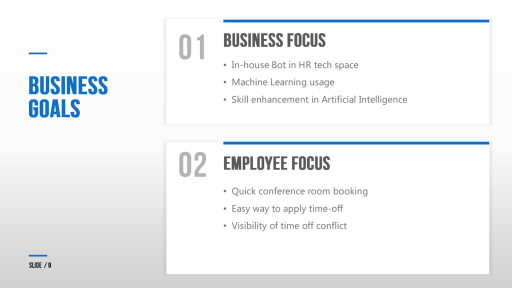 • In-house Bot in HR tech space • Machine Learn...