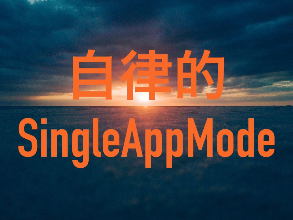 ࣗత SingleAppMode