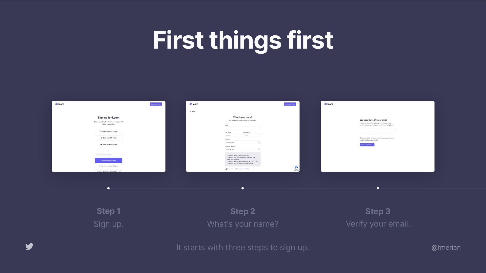 The Loom onboarding flow helps personalize the ...