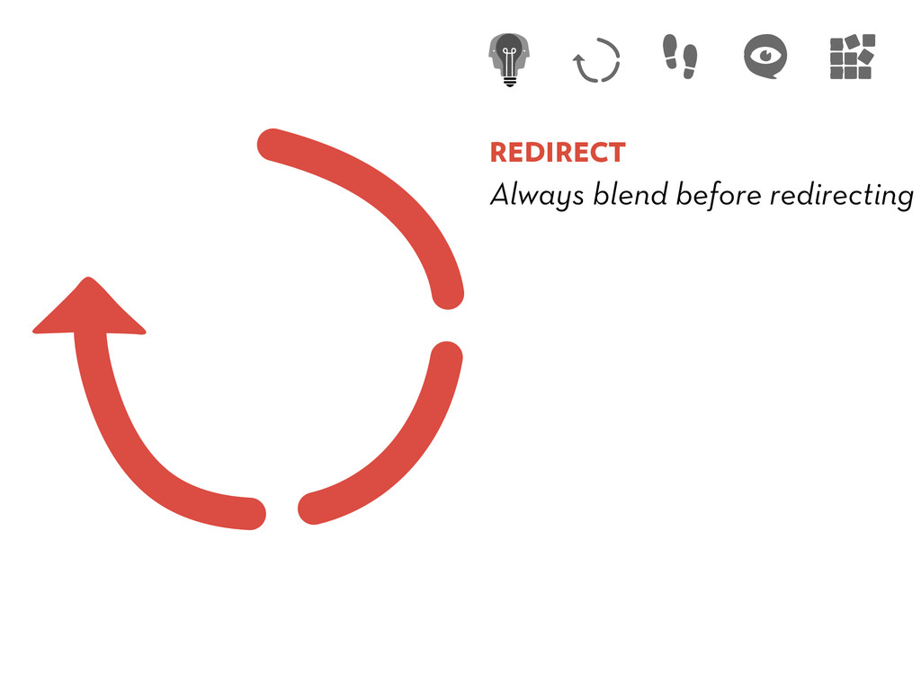 REDIRECT Always blend before redirecting