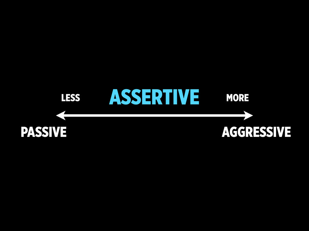 PASSIVE AGGRESSIVE ASSERTIVE MORE LESS