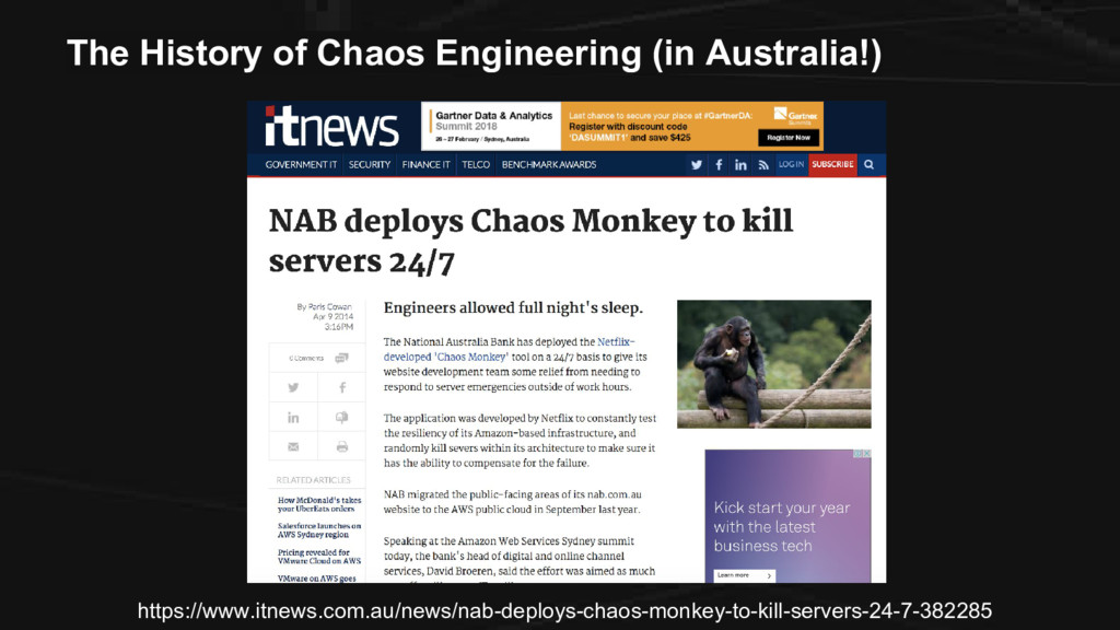 The History of Chaos Engineering (in Australia!...