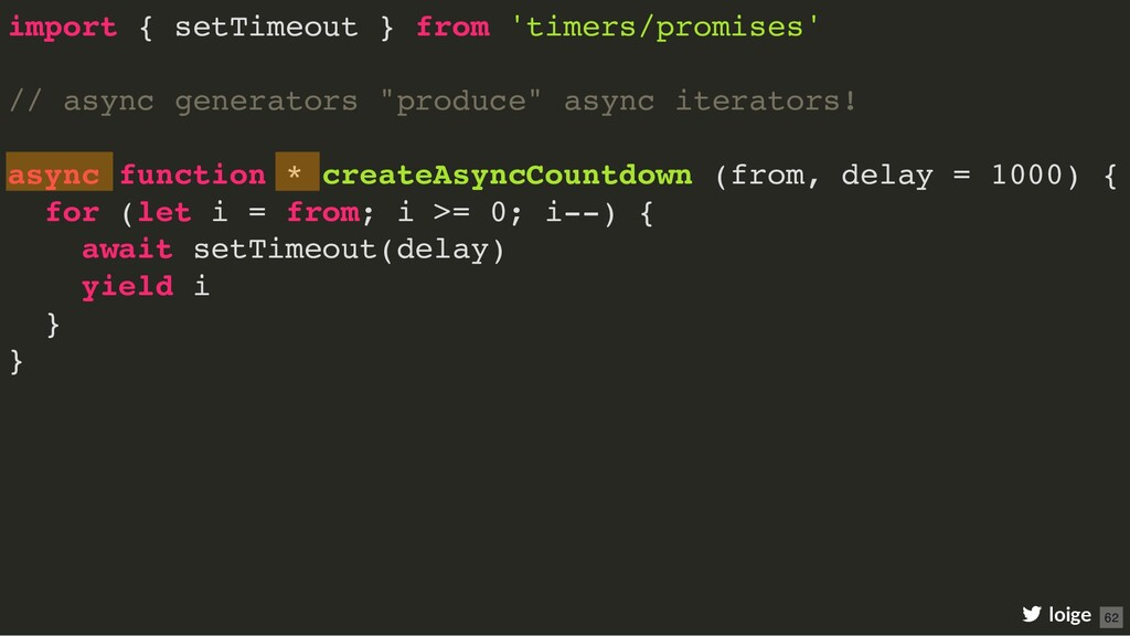 import { setTimeout } from 'timers/promises' //...