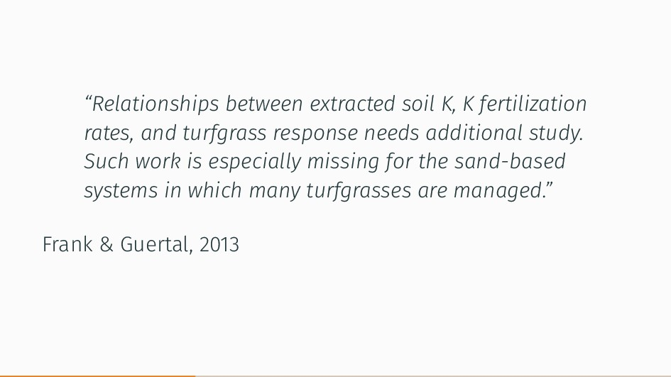 """Relationships between extracted soil K, K fert..."