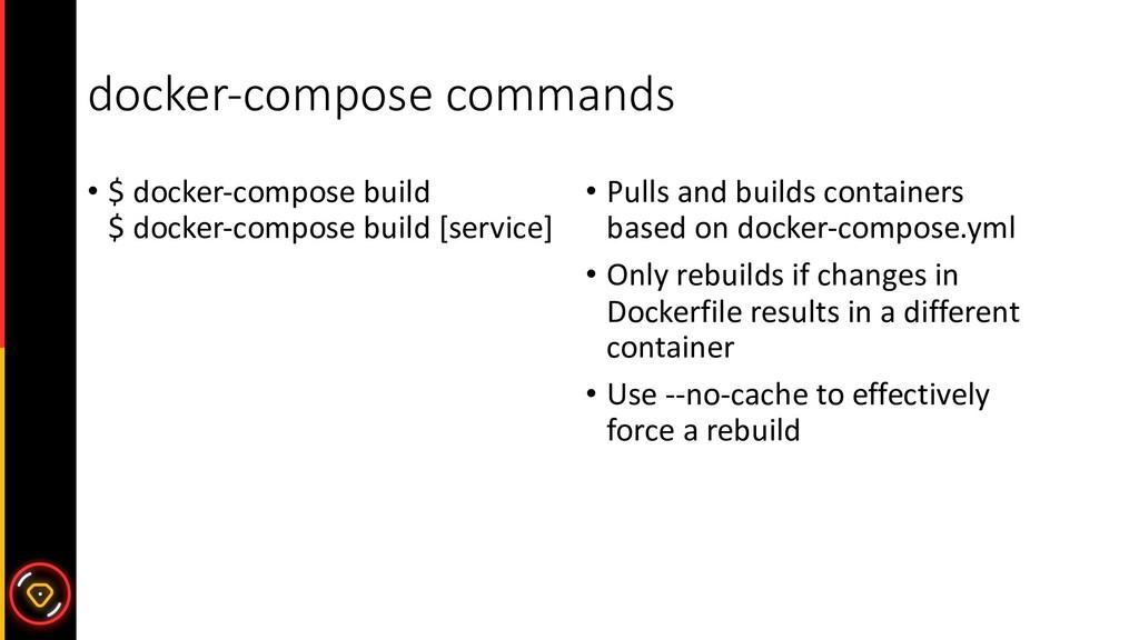 docker-compose commands • $ docker-compose buil...
