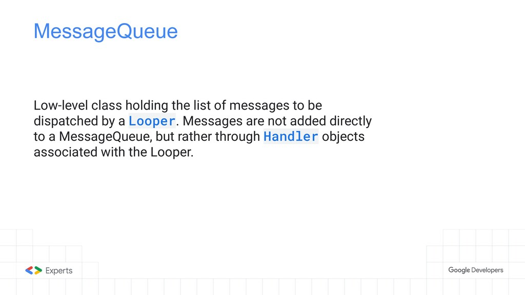 MessageQueue Low-level class holding the list o...
