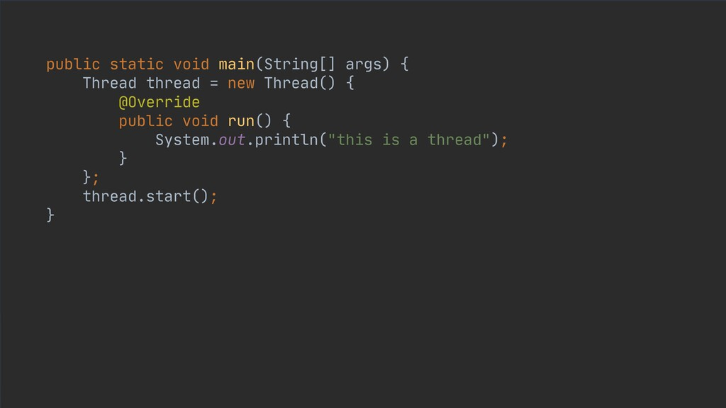 public static void main(String[] args) {  Threa...