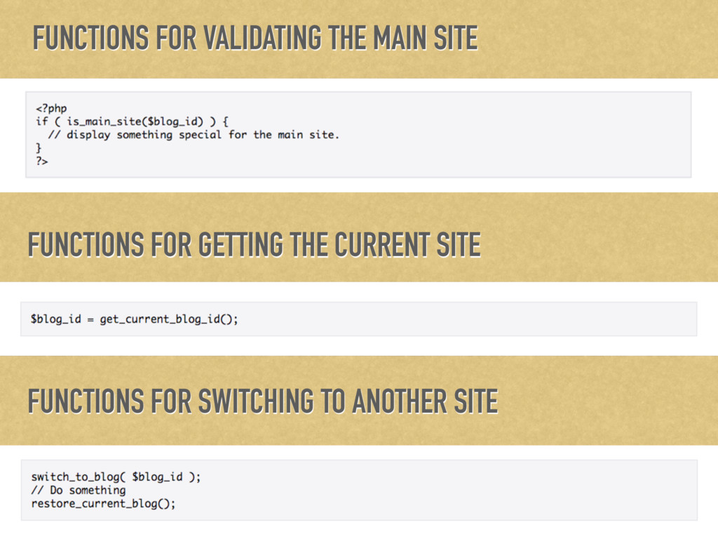 FUNCTIONS FOR VALIDATING THE MAIN SITE FUNCTION...