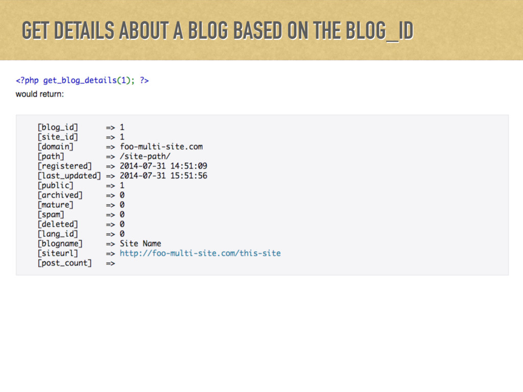GET DETAILS ABOUT A BLOG BASED ON THE BLOG_ID