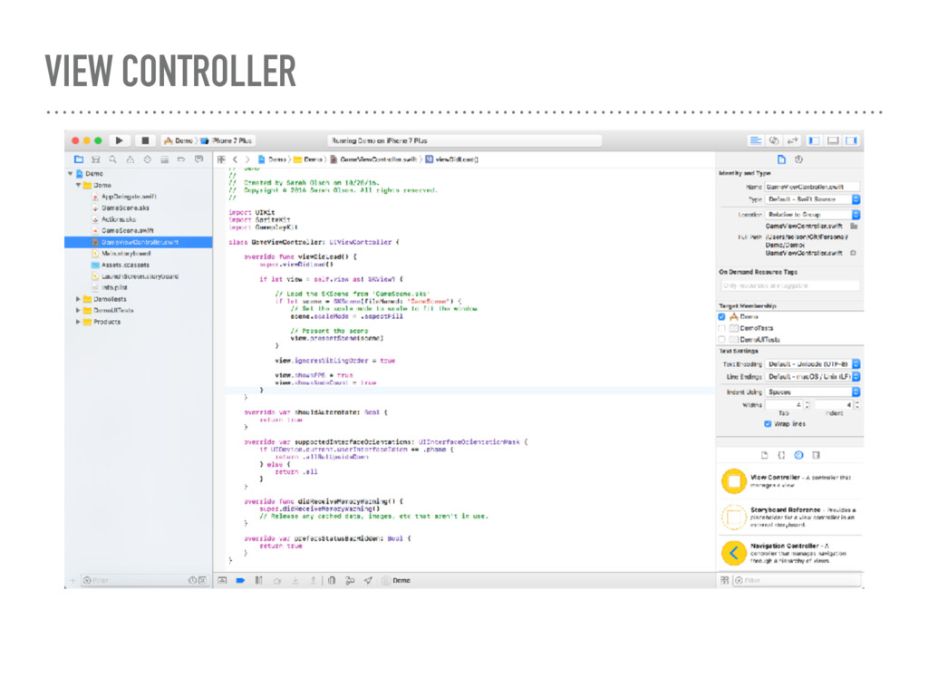 VIEW CONTROLLER