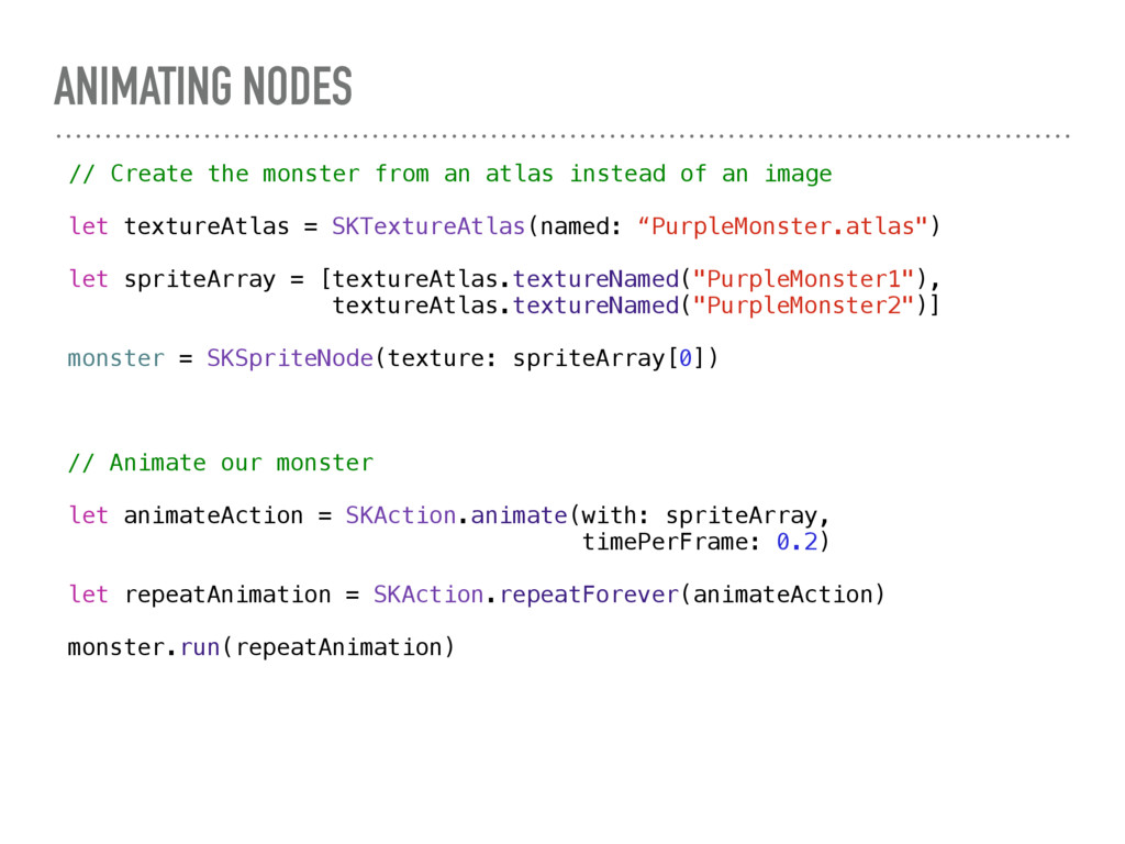 ANIMATING NODES // Create the monster from an a...