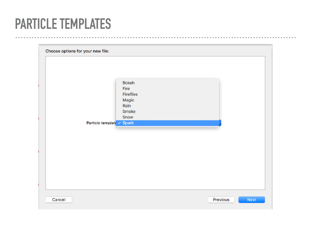 PARTICLE TEMPLATES
