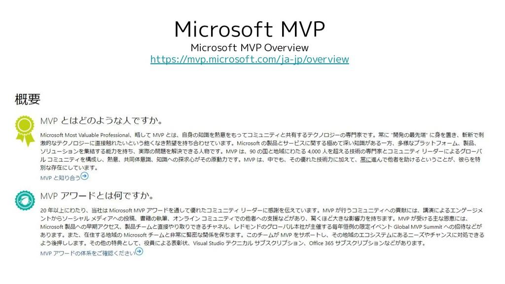 Microsoft MVP Microsoft MVP Overview https://mv...