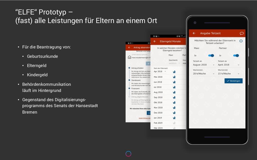 """""""ELFE"""" Prototyp – (fast) alle Leistungen für El..."""