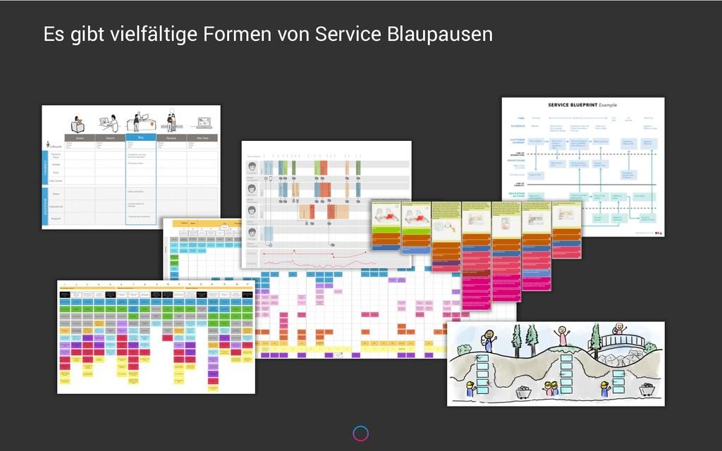 Es gibt vielfältige Formen von Service Blaupaus...