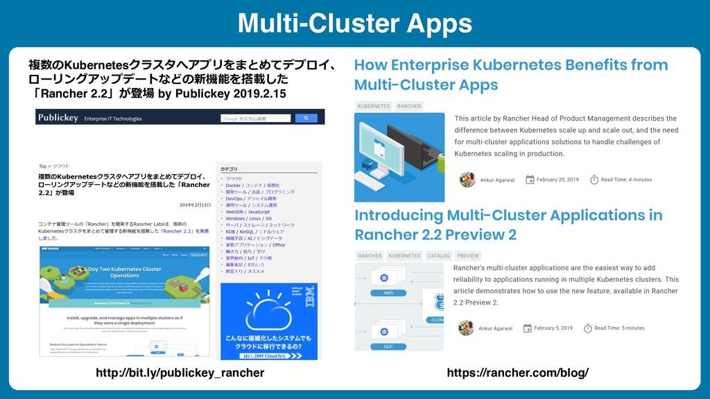Multi-Cluster Apps 複数のKubernetesクラスタへアプリをまとめてデプ...