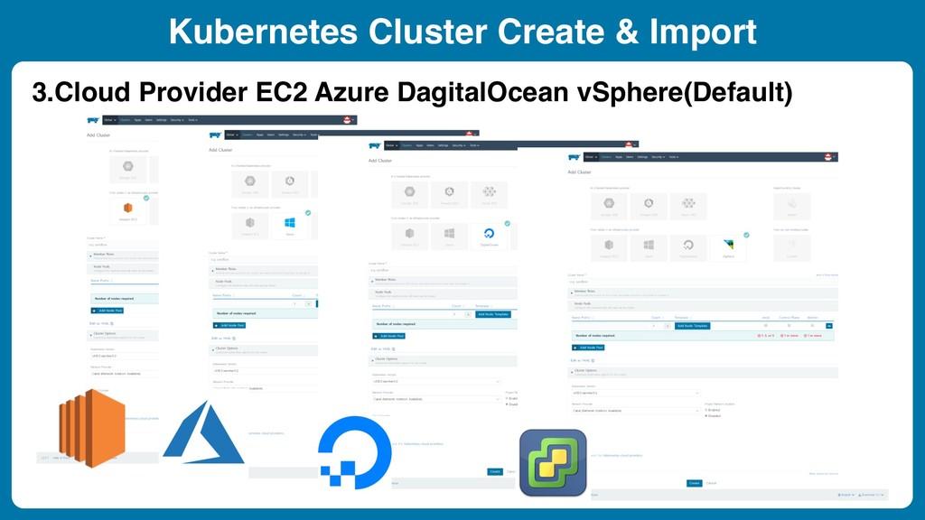 Kubernetes Cluster Create & Import 3.Cloud Prov...