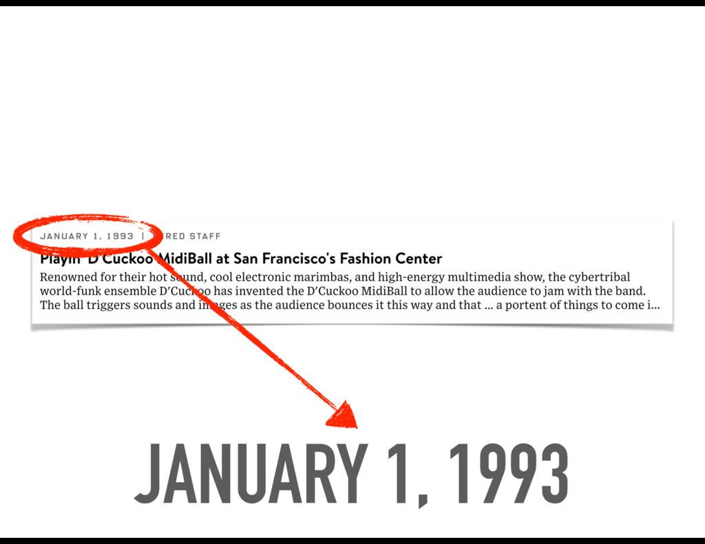 JANUARY 1, 1993
