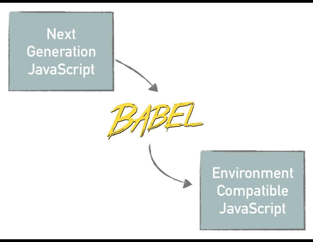 Environment Compatible JavaScript Next Generati...